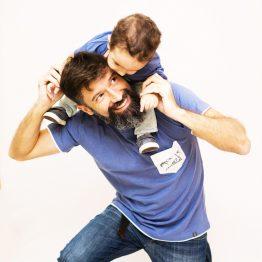 Camisa Pai e Filho Azul